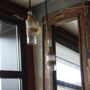 flessenlamp hang lamp