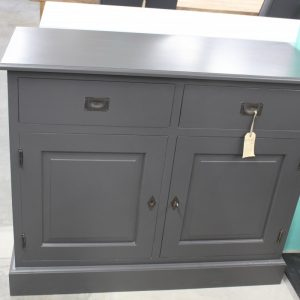 antraciet wit dressoir 110
