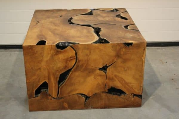 wort teak coffee table 80x80x50h €375 (1)