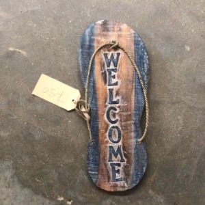 slipper hout welcome