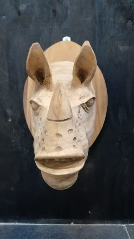 Head of rhino 40x30x40h €75 (3)