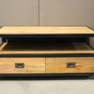 smalle salontafel 100x50x45h met 2 lade a € 375